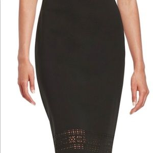 Vince Camuto Laser Cut Out Skirt